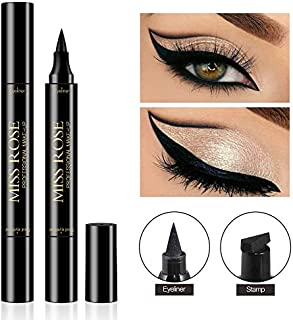 Shake Beauty Eyeliner Stamp - Vogue Effects Black, Waterproof Make Up, Smudgeproof, Winged Long Lasting Liquid Eye liner Pen, Vamp Style Wing, 1 Pens In A Pack (10mm Classic)