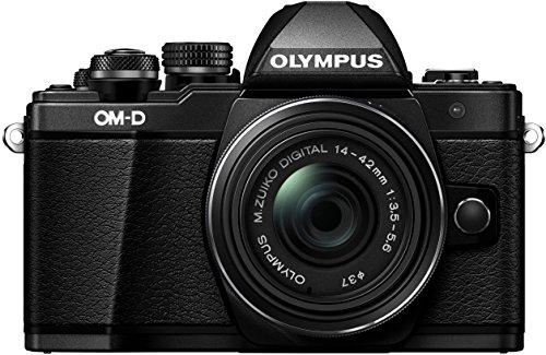 Olympus OM-D E-M10 Mark II Systemkamera (16 MP, 5-Achsen Bildstabi., elektr. Sucher, WLAN) + 14-42mm II R schwarz