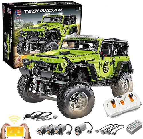 KEAYO Técnica teledirigida todoterreno, tamaño 4 x 4, modelo todoterreno, para Jeep Wrangler, MOC, bloques de montaje compatibles con Lego Technic