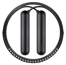 commercial TANGRAM Factory Smart Rope – Integrated LED Skip Rope (Black, Large) smart jump ropes