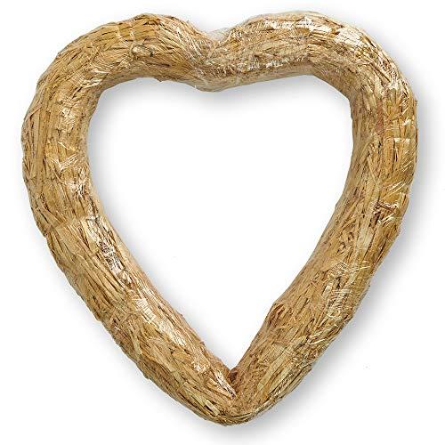 FloraCraft Straw Heart Wreath Form 16 Inch Natural