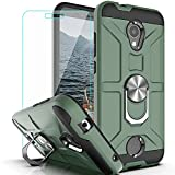 Coolpad Legacy S Case Coolpad Legacy SR case with HD Screen Protector YmhxcY 360 Degree Rotating Ring Kickstand Holder Dual Layers of Shockproof Phone Case for Coolpad Legacy S-ZS Dark Green