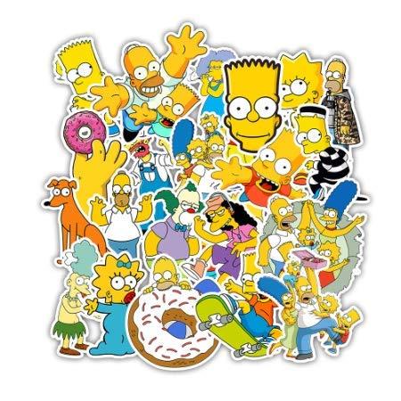 Pegatinas de dibujos animados de Los Simpson para pegatina de anime a pegatinas 50 piezas: Amazon.es: Bricolaje y herramientas