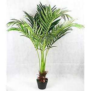 FloralStem Planta artificial de palmera fénix de 130 cm, decoración exótica para el hogar y la oficina