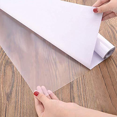 Fantasnight Transparent Klebefolie Selbstklebende Folie 45 × 500cm Tisch Buchfolie Wandschutzfolie Durchsichtige Hitzebeständige Küchenfolie Hochglanz Einbandfolie für Bücher