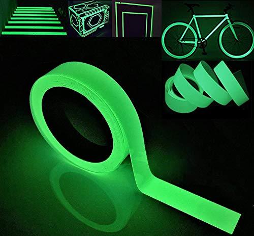 Gebildet 10m x 2cm Nastro Luminoso, Nastro Fluorescente Adesivo, Nastro Bagliore Nel Buio, Verde Fluorescente Luminoso Nastro, Luminous Tape Glow in the Dark: Impermeabile Rimovibile Sicuro