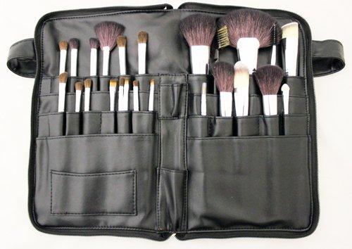 24-tlg. Make-Up Pinselset Echthaar Kosmetik Studio Pinsel Profi Qualität Lidschatten Eyeliner Schminkpinsel Set