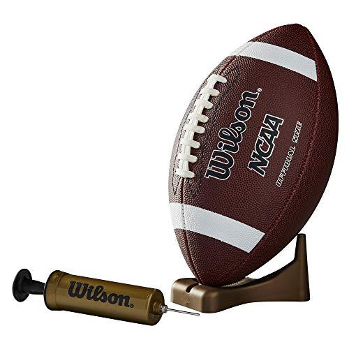 Wilson NCAA Supreme - Fútbol Americano con Bomba y Camiseta, Color marrón