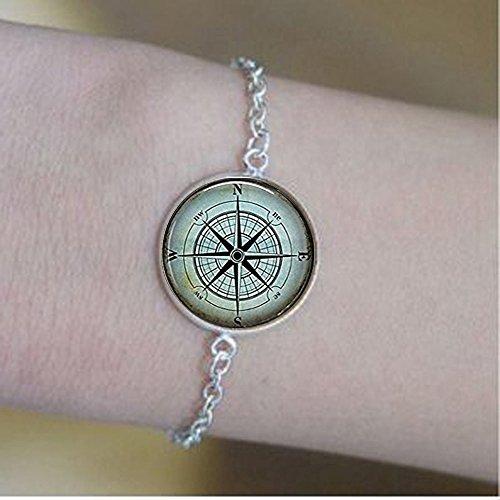 nijiahx Nautische Kompass Armbän...