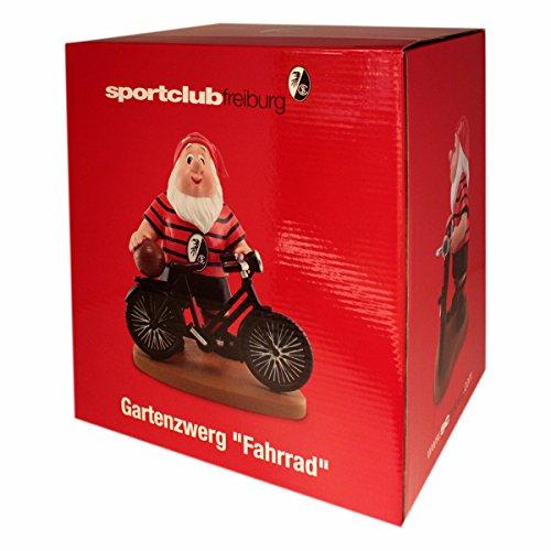SC Freiburg Gartenzwerg Fahrrad