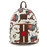 Loungefly Harry Potter Tattoo Art Cream Color Womens Double Strap Shoulder Bag Purse