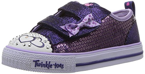 Skechers Baby Mädchen 10764n Sneaker, Mehrfarbig (Purple Sequin Textile/ Blue Trim), 21 EU
