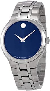 Movado Blue Dial Mens Steel Watch 0606369