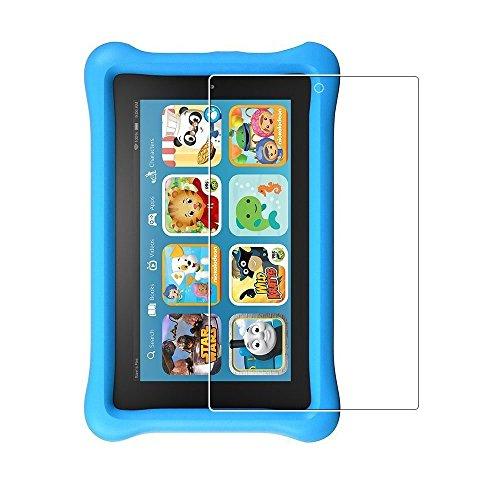 (2pack) Fire Kids Edition Protector de pantalla, 9H Dureza Anti-Scratch Protector de pantalla de vidrio templado sin burbujas para Fire Kids Edition, New-Fire (7 'Pantalla, 2015 Lanzamiento)