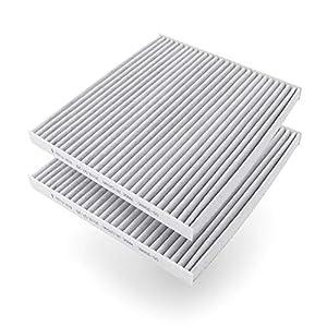 AmazonBasics - Filtro de aire para vehículos, 25,3 x 22.5 x 2 cm, 2 unidades