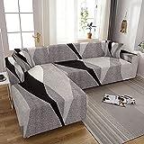 MKQB Cubierta de sofá elástica elástica con impresión para...