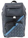 Michael Kors Men's Black Cooper Two-tone Logo Stripe Backpack, Style 37U1LCOB6J.