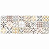 douceur d'intérieur tapis rectangle 45x120 cm mousse salou orange
