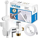 Handheld Bidet Sprayer for Toilet Set, Cloth Diaper Sprayer for Bidets Attachment with Superior Pressure Control Switch, Bidet Toilet Sprayer White with Check Valve