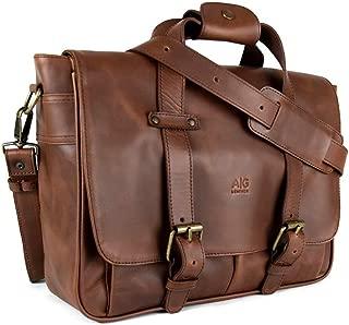 leather attache bag