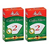 Melitta No. 2 Cone White Paper Filter, 100 Count (Pack of 2)