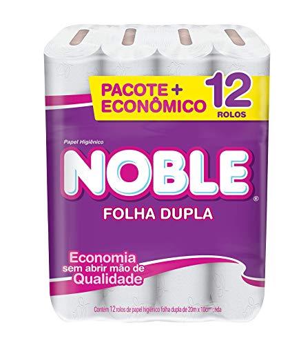 Papel higienico folha dupla noble neutro 12 rolos de 20m, NOBLE