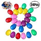 JZZJ 24 Stücke Egg Shaker Set Maracas Eier Musical Eier