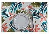 Mantel Antimanchas Rectangular - Cuadrado. Mantel Antimanchas Estampado, Impermeable, Flexible y Lavable al Corte (Primavera Colorida, 140x200 cm)
