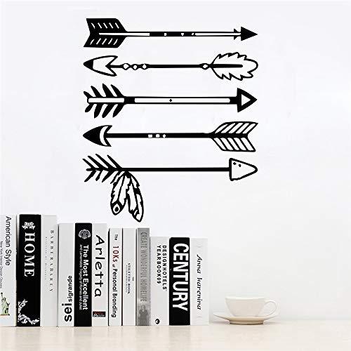 Flecha tribal etiqueta de la pared de vinilo decoración de la habitación accesorios para niños niño decoración de la habitación dormitorio de los niños calcomanía mural stickerss 58X67CM