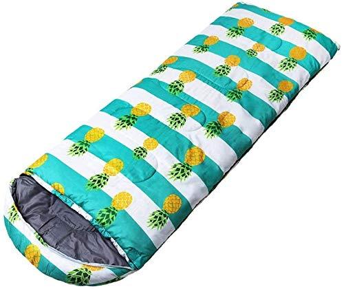 Poliéster imitación sacos de dormir de seda con revestimiento impermeable, sacos de dormir al aire libre for adultos creativa viajes, otoño e invierno y cálidas, transpirable, fácil de llevar sacos de