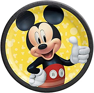 """Amscan 542480 Mickey Mouse Paper Dessert Plates - 7"""" 