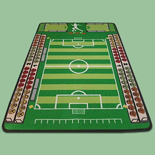 TAPITOM   Tapis Enfant Football - 95 x 133 cm   Tapis de Jeux Terrain de Foot   Tapis de Sol pour Chambre d