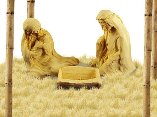 Weihnachten Geschenk, Krippe, Stein Skulptur von Jacklyn Kelly, Mary Halten Jesus mit Joseph.