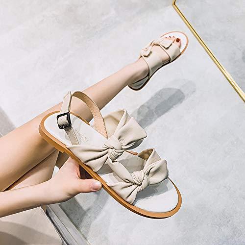 Nwarmsouth Séchage Rapide Été Pantoufles,Chaussures étudiantes d'été à Bout Ouvert, Chaussures pour Femmes à Semelle Plate All-Match-Apricot_38,Pantoufles De Voyage Portables