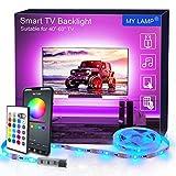 LED TV Hintergrundbeleuchtung APP, MY LAMP 2.5M LED Strip USB Bluetooth TV LED Licht für 40-60 Inch...