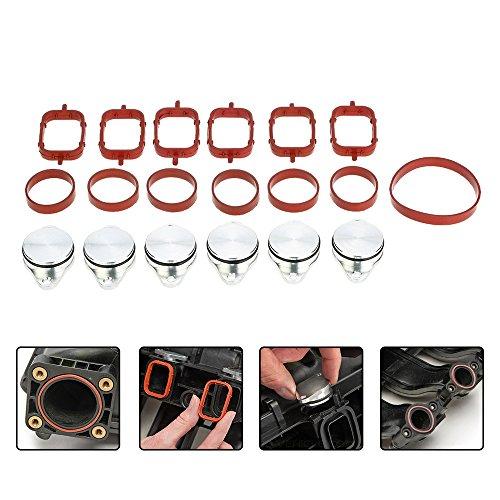 KKmoon 6 PCS 33mm Diesel Swirl Flap Blanks Bungs di Ricambio con Guarnizioni Collettore di Aspirazione per B M W 320d 330d 520d 525d 530d 730d