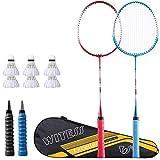 Rebily Badminton Conseil Badminton Racket Simple et Double Racket Authentique des Adultes Hommes et Femmes Offensive Haute Enfants Durable Junior école étudiants Suit (Color : B)