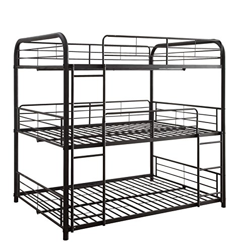 ACME Furniture Cairo Triple Bunk Bed, Full, Black