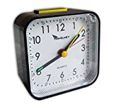 Travel Alarm Clock - No Bells, No Whistles, Battery Operated, Alarm, Snooze, Light, Black