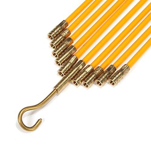 LENASH 33 Pollici Fibra di Fibra di Fibra di Fibra di Fibra di Fibra di Rete Cavo in Rete coassiale a Nastro di Pesce Elettrico e Kit di Spinta .Strumenti e Accessori utili