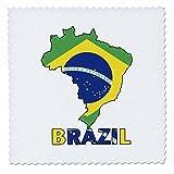 3dRose QS 51743_ 1brasilianische Flagge in der Karte