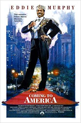Coming To America (Eddie Murphy) Movie Poster Size 24 x 36 Inches - An Authentic Poster Office Print with Holographic Sequential Numbering