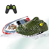 Seckton Alligator Head Remote Control Boat Toys RC Boat for Kids 8-12 Years Old 2.4G High-Speed Simulation Remote Control Alligator Head, Prank Water Toys for Pools and Lakes Floating Crocodile Head