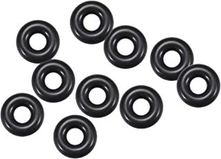 1mm Width 9mm Inner Diameter sourcing map Fluorine Rubber O Rings Seal Gasket Black 10Pcs 11mm OD