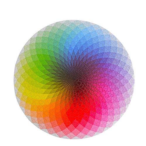 Puzzle Rompecabezas De 1000 Piezas De Papel Colorido Arcoíris Redondo Geométrico Foto Juego De Rompecabezas Para Niños Adultos Diy Juego De Juguetes Educativos