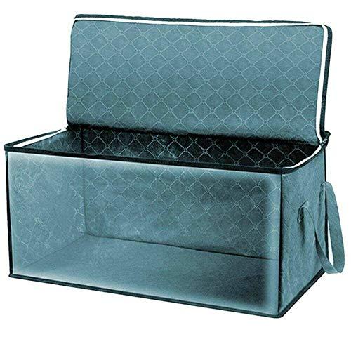 Bolsa De Almacenamiento De Ropa Bolsa De Almacenamiento para El Hogar Plegable Ropa Mantas Cestas Suéter Edredón Caja De Almacenamiento Organizador Edredones, Ropa (Size:58 X 31 X 30 Cm; Color:Blue)