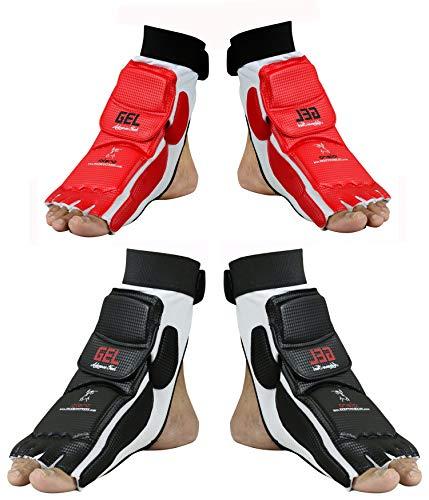 EVO Taekwondo Fußschutz Guard Karate Handschuhe MMA Polster Socken Sparring Getriebe-kinder Neu Damen - Schwarz, X-Large