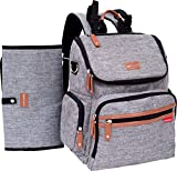 Baby Nation Diaper Backpack - Large Capacity Diaper Bag Unisex - Changing Pad