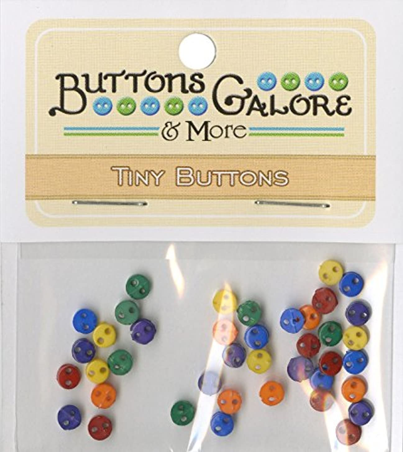 Buttons Galore Micros Primary Mix Buttons, 1/8