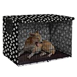 Polyester Dog Crate Cover - Durable Windproof Pet Kennel Cover Provided for Wire Crate Indoor Outdoor Protection - Cover only - 42inch-Black